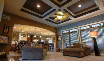 coffered ceiling and unique archway