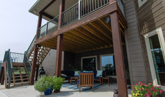 wood and iron deck