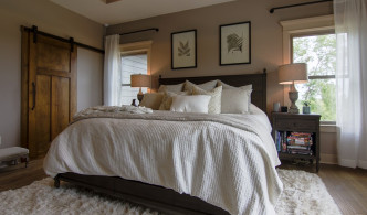 master suite and bedding