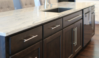 quartzite kitchen island