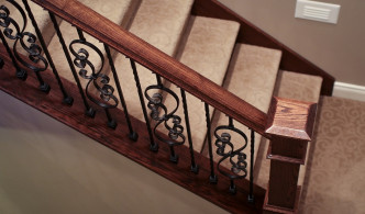 wood and iron stair rails